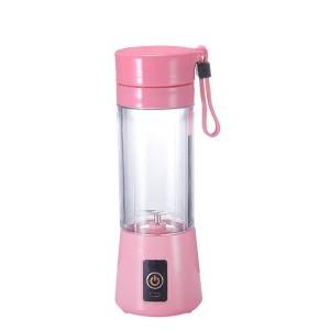 Portable USB Electric Charging Fruit Blender Juice Cup Pink