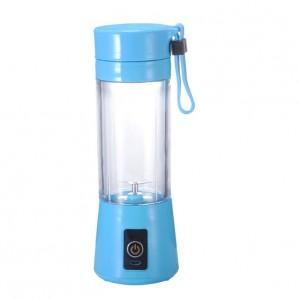 Portable USB Electric Charging Fruit Blender Juice Cup Sky Blue