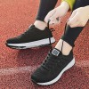 Light Weight Sports Running Sneakers - Black