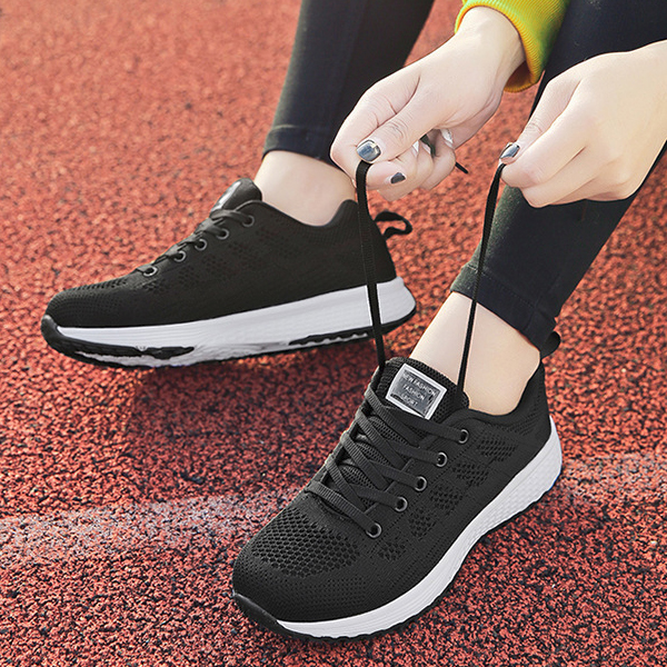 Light Weight Sports Running Sneakers - Black