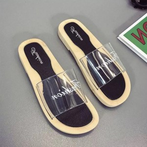 Jelly Summer Collection Flat Sandals - Black