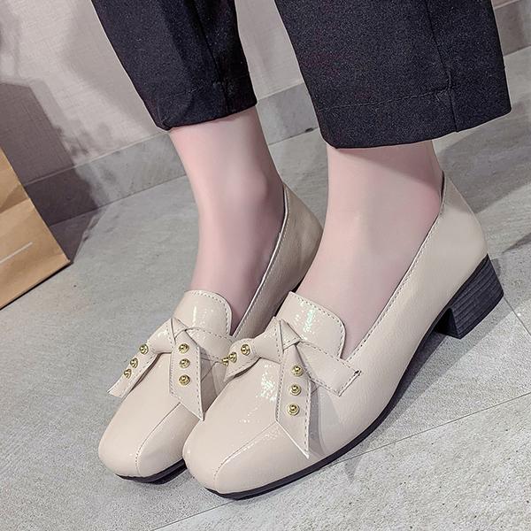 Retro Office Wear Shallow Formal Shoes - Beige