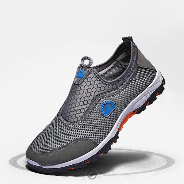 Sports Running Soft Bottom Unisex Sneakers - Grey