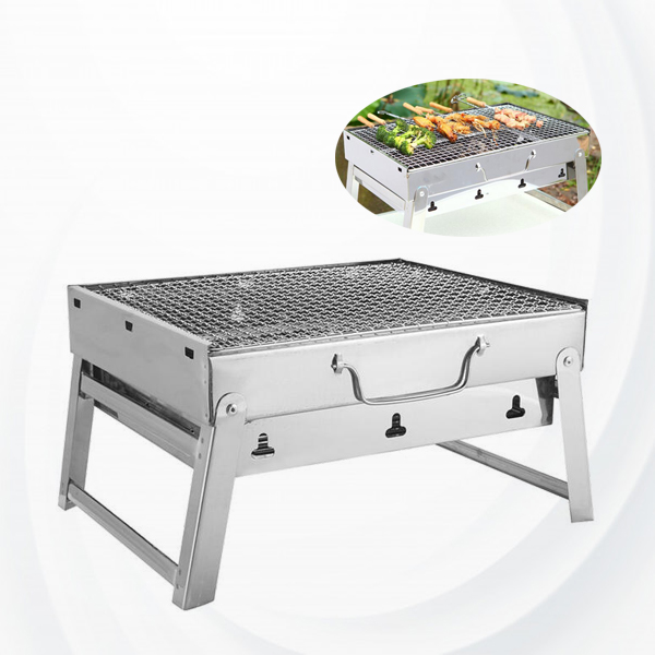 Foldable Outdoor Charcoal Barbeque Grill