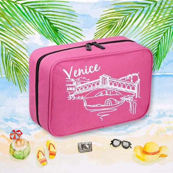 Smart Traveller Organizer Bag - Burgundy