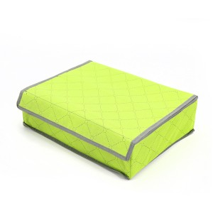 Home Storage Portable Canvas Divider Box - Green