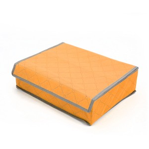 Home Storage Portable Canvas Divider Box - Orange