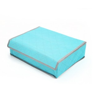 Home Storage Portable Canvas Divider Box - Blue