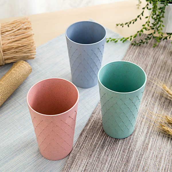 Textured Fine Quality Plastic Cup - Blue