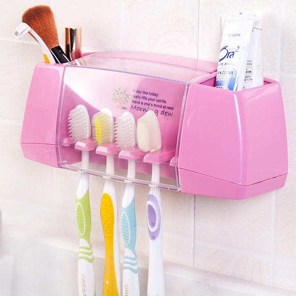 Bathroom Essentials Wall Hanging Box Storage - Pink