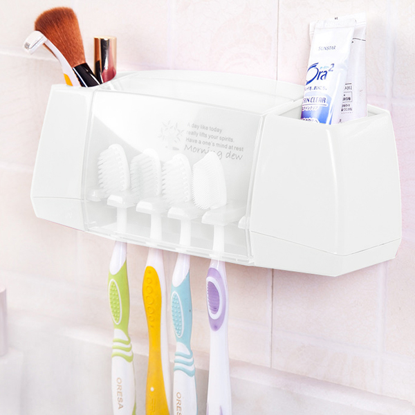 Bathroom Essentials Wall Hanging Box Storage - White