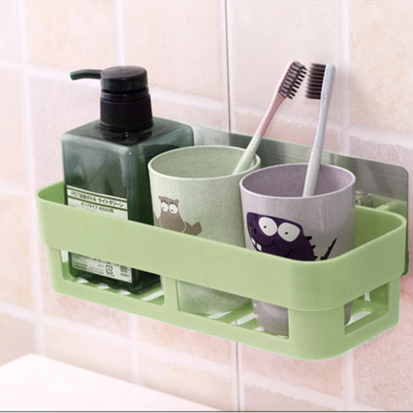 Multi Purpose Smart Plastic Wall Hanging Tray - Green