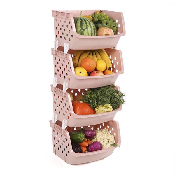 Four Storey Vegetables And Fruits Rack - Apricot