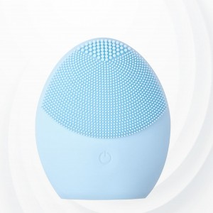 Vibrating Face Cleaner Facial Deep Silicone Brush - Light Blue