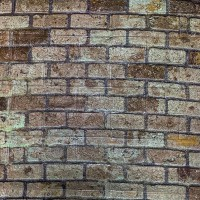 Vintage Bricks Printed Embossed Self Adhesive 3D Wall Stickers - Brown