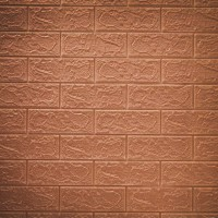 3D Brick Wall Stickers Self Decor Foam Waterproof Wall Covering Wallpaper For TV Background Kids Living Room - Light Brown