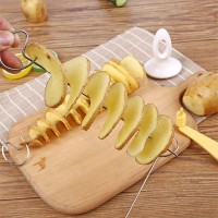 Spiral Easy Fancy Potato Cutter Gadget - Silver