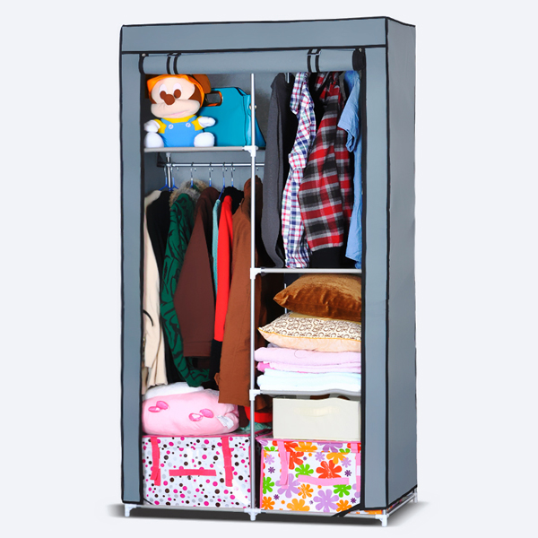 Duo Partition Smart Canvas Wardrobe - Blue