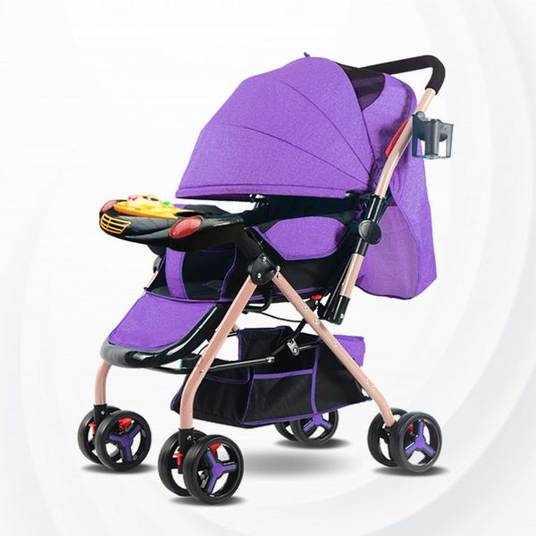 Musical Playable Quality Baby Stroller - Purple