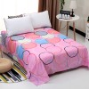 Colorful Rings Print Cotton Bed Cover Sheet
