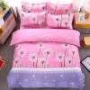 Four Pieces Bed Sheet With Quilt And Pillow Cover - Dandelion Prints