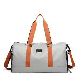 Shoe Section Large capacity Luggage Travel Bags - Gray
