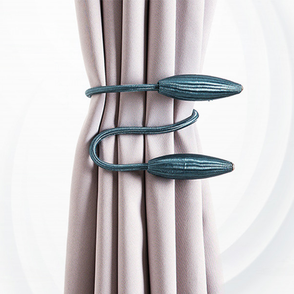 Rope Style Fancy Decorative Curtain Clip Band - Blue