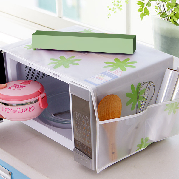 Dust And Oil Proof Printed Microwave Cover - Floral