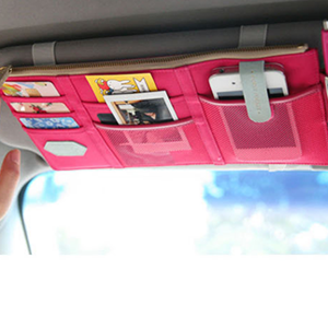 Portable Sun Shade Hanger Storage Pockets - Pink