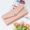 Fine Stitched Soft Leather Clutch Wallet - Pink