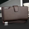 Leather Texture Brown Foldable Wallet - Brown