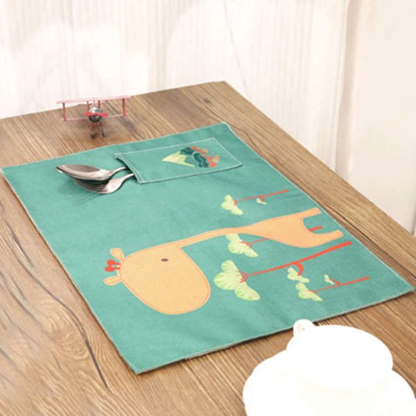 Dining Placemat With Pocket - Animal Prints
