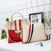Bug Patched Pearl Contrast Two Pieces Handbags - White