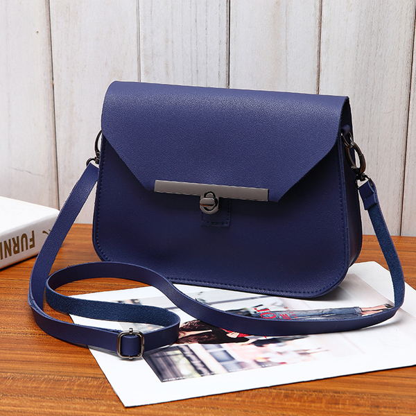 PU Leather Cross Body Messenger Bags - Blue