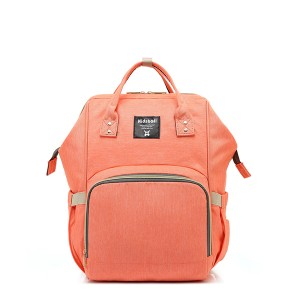 Multi-Purpose Orange Traveling Backpack For Women