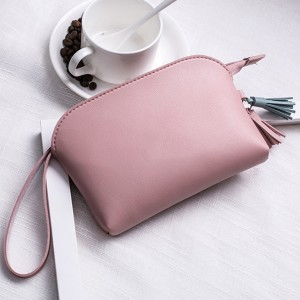 Tassel Hanging PU Leather Handy Pouches