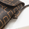 Alphabetical Prints Ring Patched Shoulder Bags