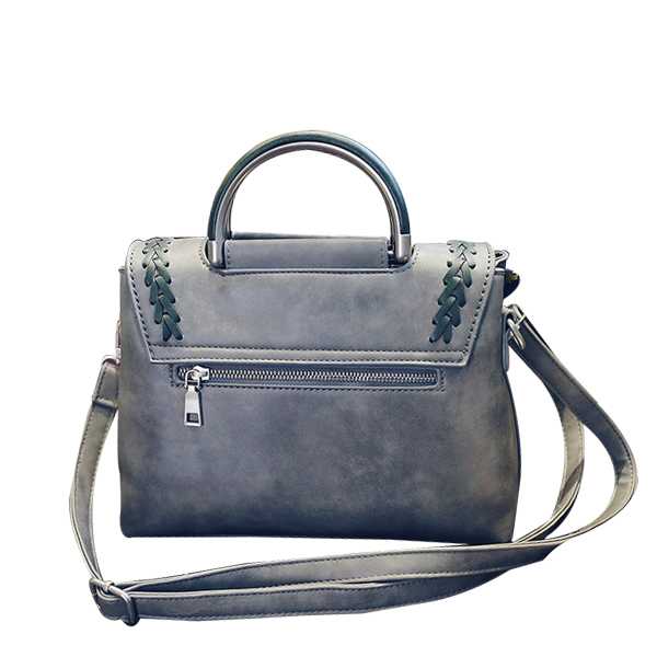 Woven Beauty Handbag Most Demanded Style Grey Color