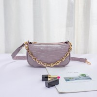 Textured Shiny Designers Special Women Messenger Bags - Purple