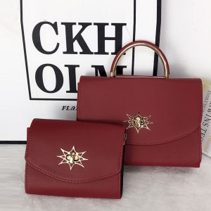 Star Patch Two Pieces Formal Bags Set - Red