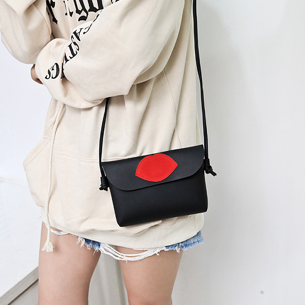 Lips Patched Envelope Messenger Bags