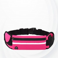 Zipper Closure Canvas Buckle Sports Fanny Pack - Hot Pink