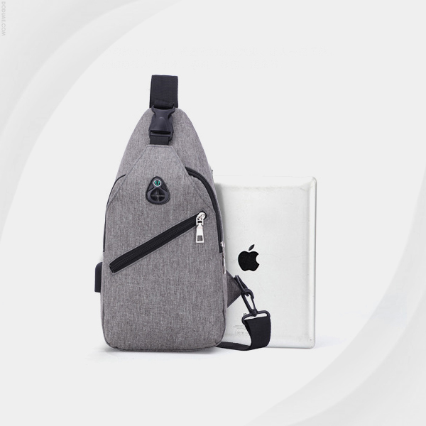 Round Shaped Multipurpose Unisex Backpack - Grey