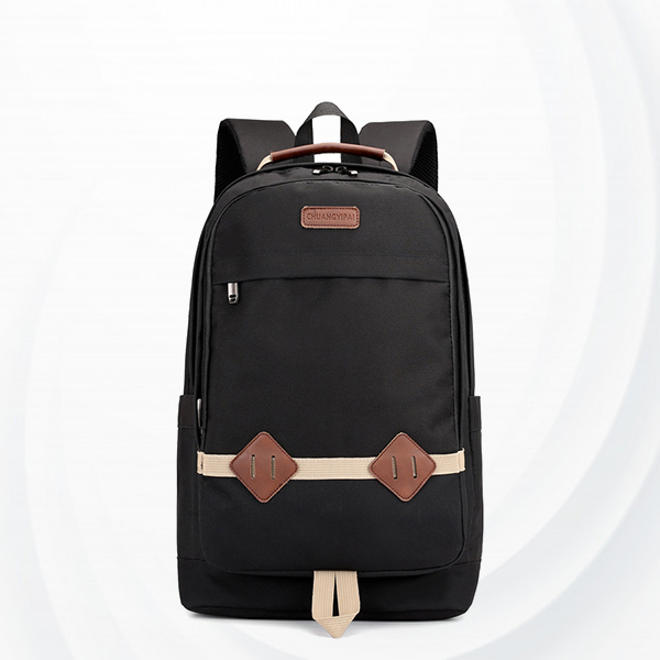 Zipper Multi Pockets Casual Outdoor Backpacks - Black