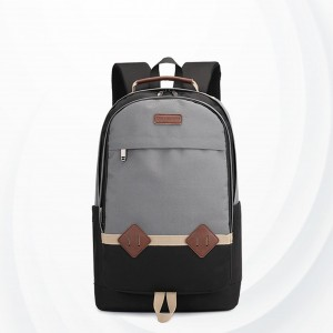 Zipper Multi Pockets Casual Outdoor Backpacks - Grey