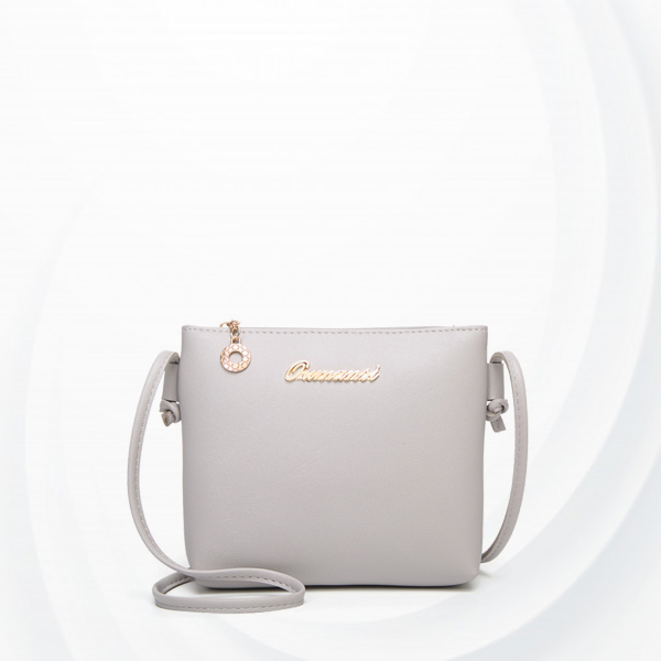 Quality String Strapped PU Leather Bags - Grey