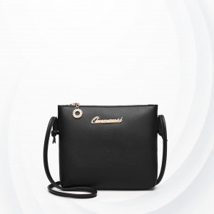 Quality String Strapped PU Leather Bags - Black