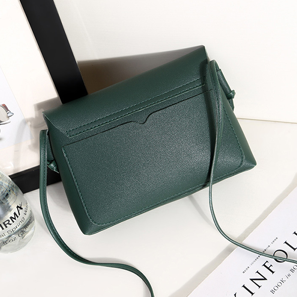 PU Strappy Green Mini Shoulder Bags