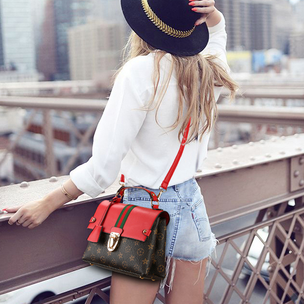 Beautiful Patterned Brown And Red Messenger Bag