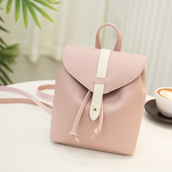 Dual Style Magnetic Lock Strapped Shoulder Bags - Pink